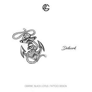 dotwork-anchor-skull-tattoo-design