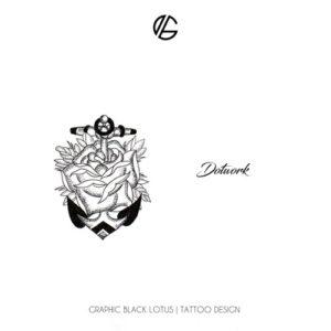 dotwork-tattoo-design-anchor-rose-flower-oldschool