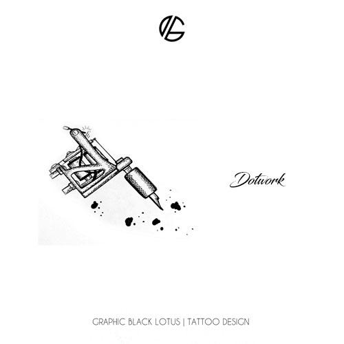 dotwork-machine-tattoo-design