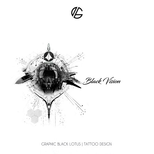 pilot-black-vision-tattoo-design