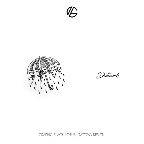 dotwork-umbrella-rain-tattoo-design
