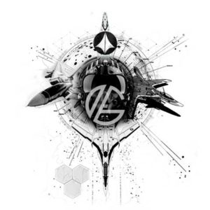 pilot-fighter-planes-space-tattoo-graphic-design