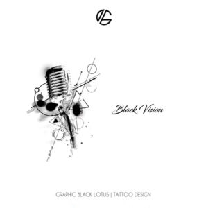 micorphone-music-black-vision-tattoo-design