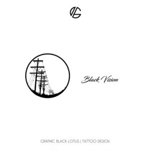 electric-black-vision-tattoo-design