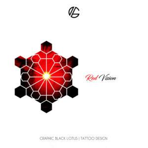 geometric-red-vision-tattoo-design