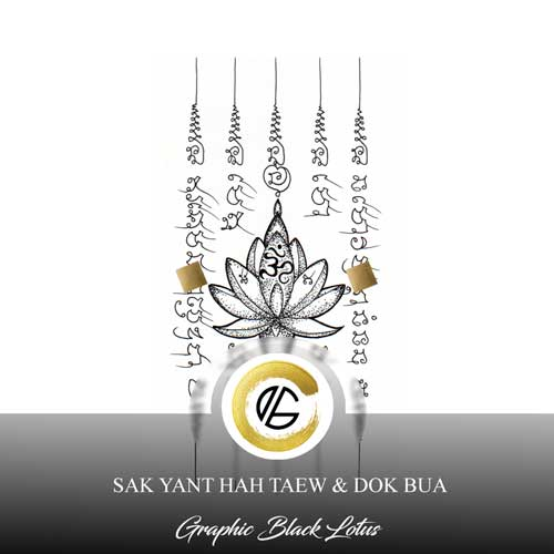 sak-yant-5-rows-lotus-flower-tattoo-design