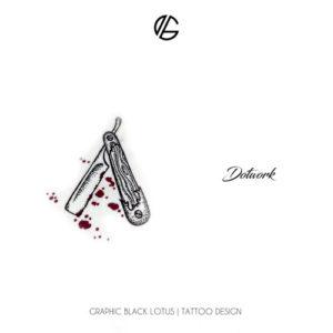 dotwork-razor-tattoo-design