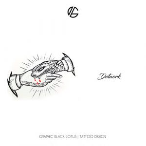 dotwork-trust-no-one-tattoo-design